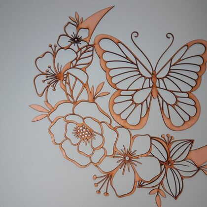 "Sienas dekors ""Ziedi"""